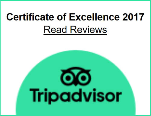 2017 TripAdvisor Certificate of Excellence Award Winner - Curtain Fig Motel - Yungaburra